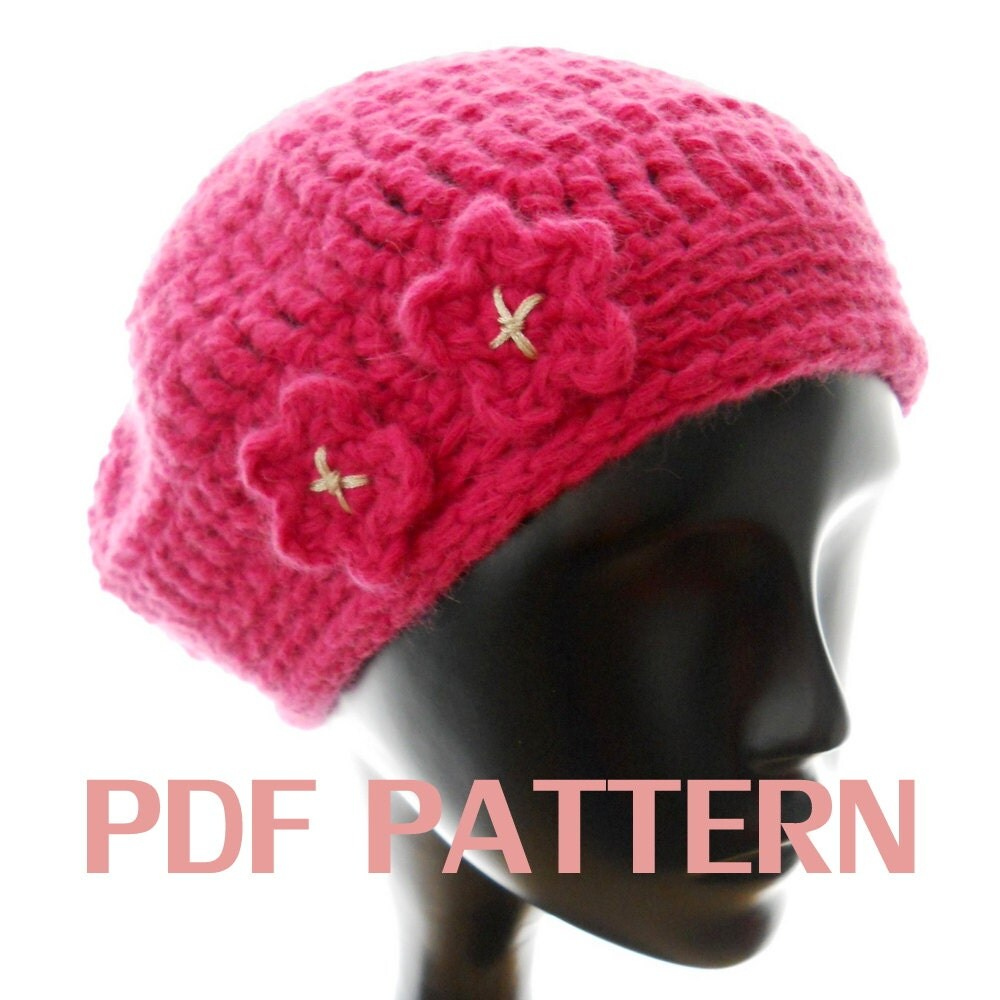Meret Beret Knitting Pattern : CHUNKY BERET FREE KNITTING PATTERN - VERY SIMPLE FREE KNITTING PATTERNS