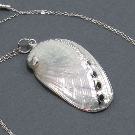 Sterling Silver Gilded Seashell Necklace - Siren's Song
