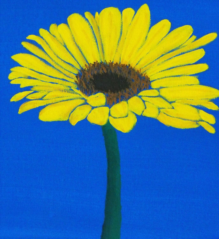 Yellow Daisy Original Painting
