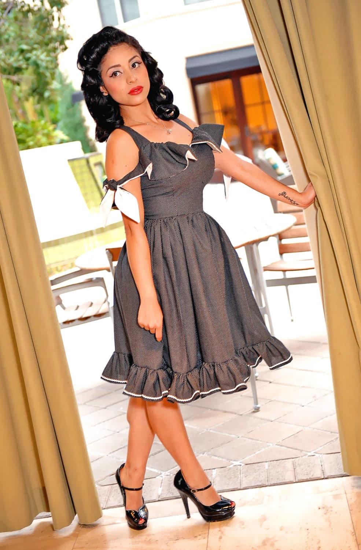 Fiesta Pinup Girl Dress featuring model Norma Angelica Gutierrez CrazyBeautiful