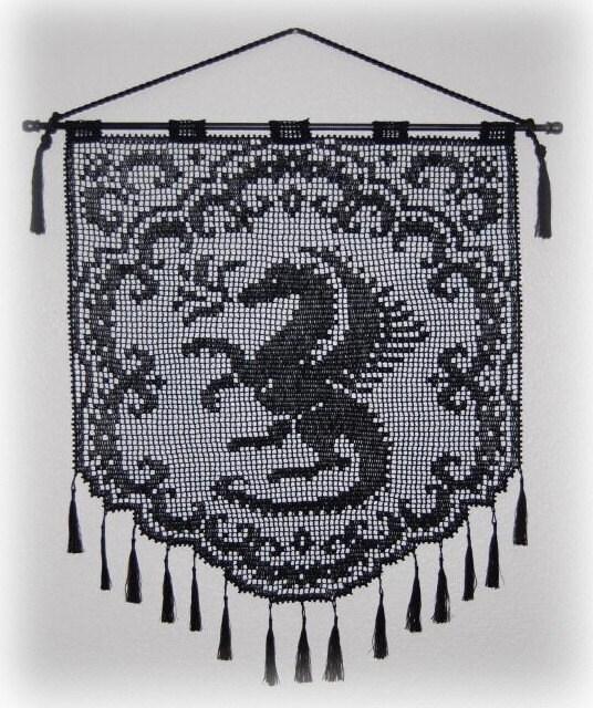 Proud Dragon Wall Hanging Pattern PDF Digital by CrochetNBeads
