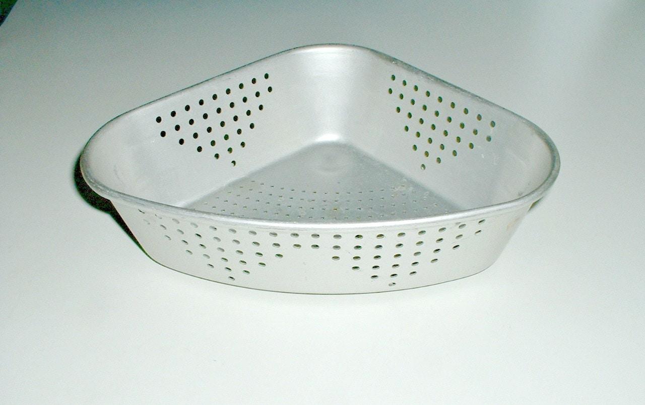 Corner Sink Strainer : Vintage Wear Ever Aluminum Kitchen Sink Corner by ClassicMemories