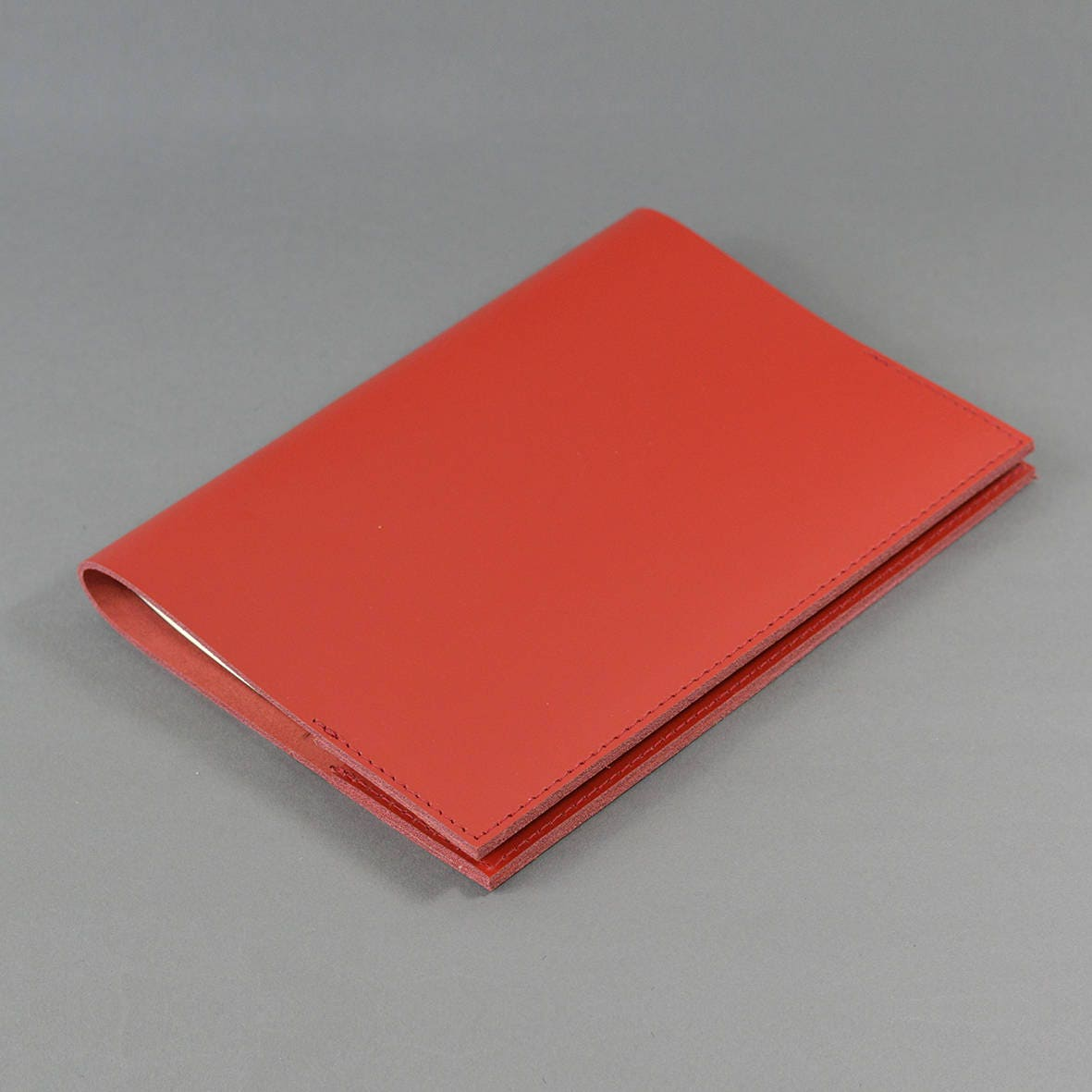 A5 Red bridle Leather Notebook Cover  Includes Lined Page A5 Notebook