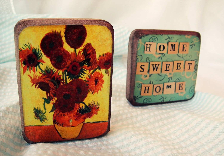 Sweet home -Fridge magnets Set of 2 - Gift for mom -Free shipping worldwide