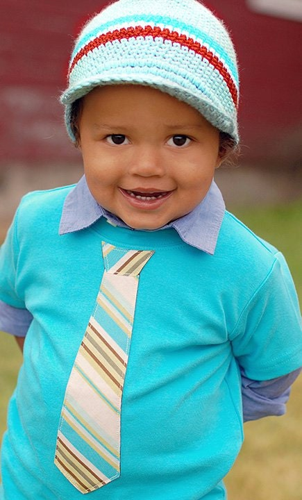 Easter, Spring Long Sleeve Tshirt - ANY TIE on Aqua/Turquoise Tee - Children, Youth, Toddler, Infant, Big Brother Sizes 12m, 18m, 2, 4, 6, 8