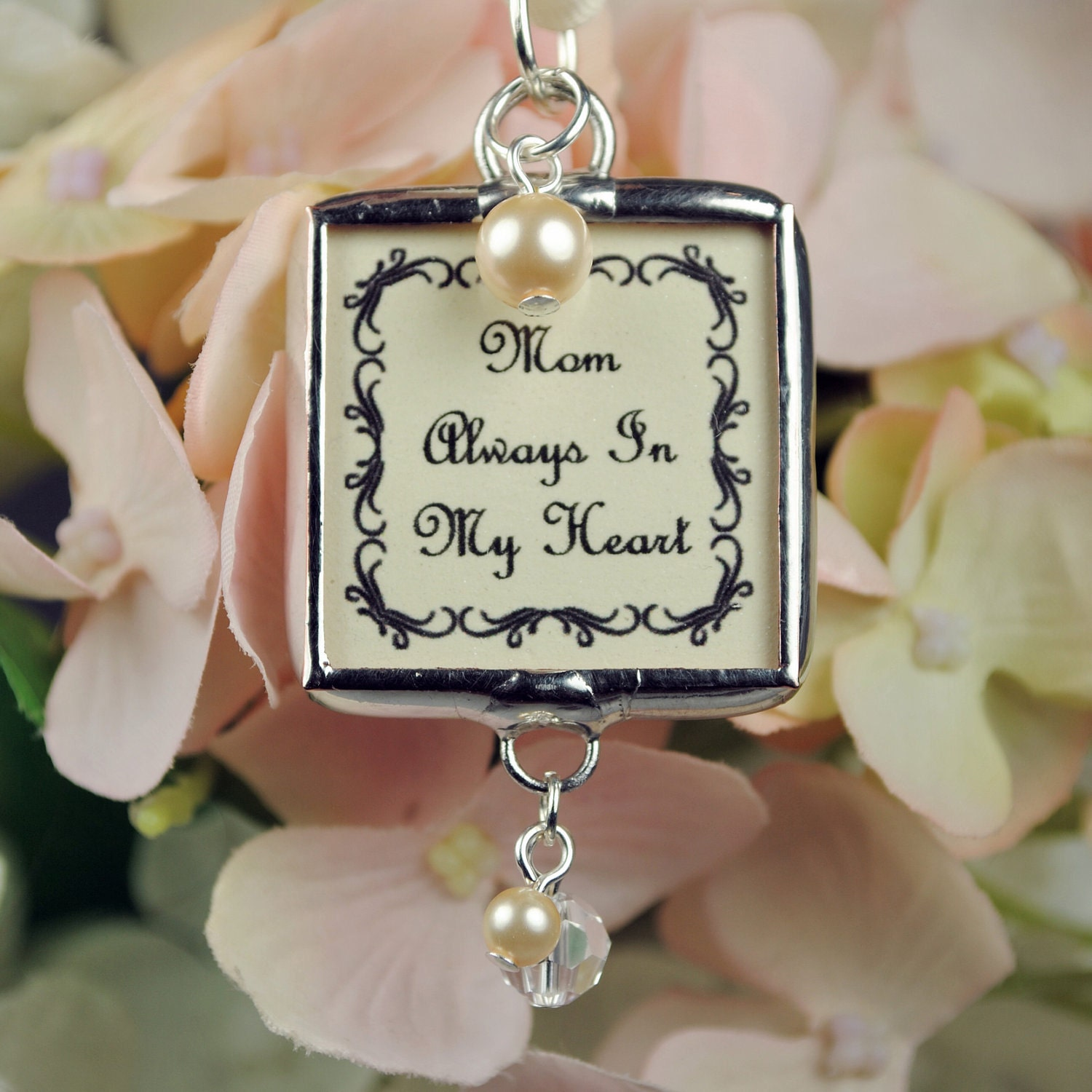 custom wedding bouquet charm personalized photo by glassrealm