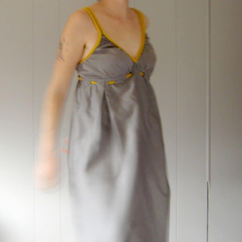 Grey n Yellow Baby Doll