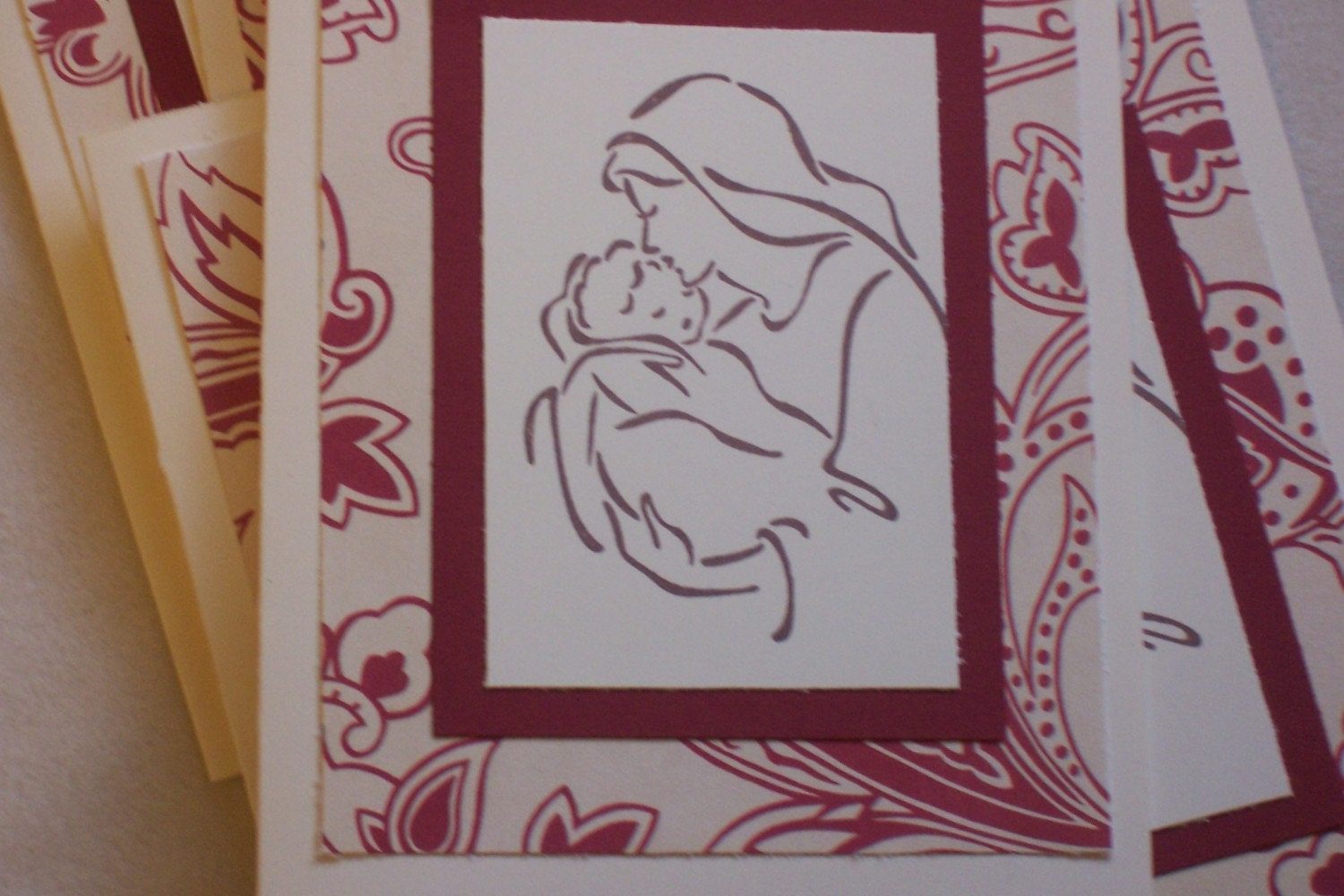 Madonna and Child Christmas cards - set of 6