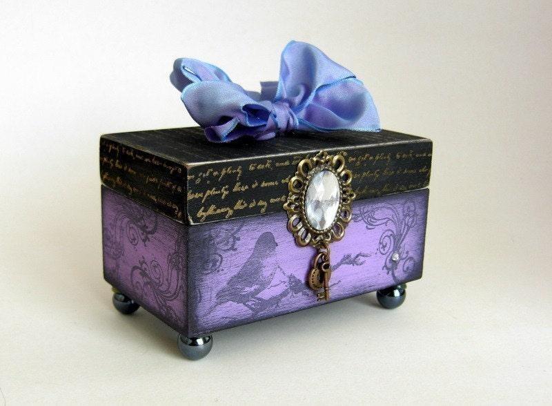 Брелок коробка / Птица наблюдателем Keepsake Box