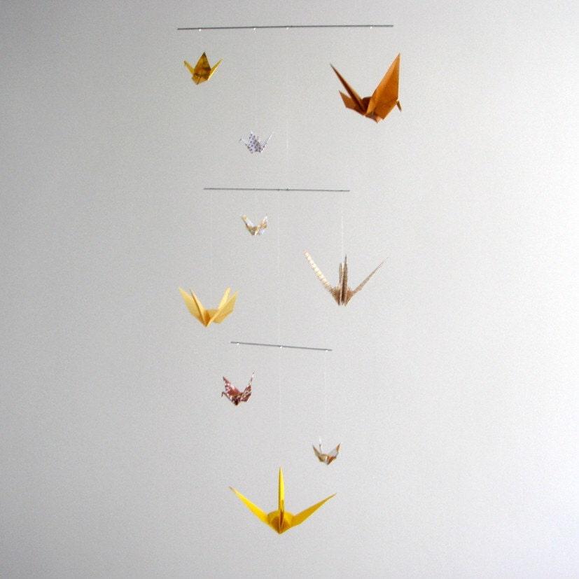 Ochre cranes / mobile / extra small