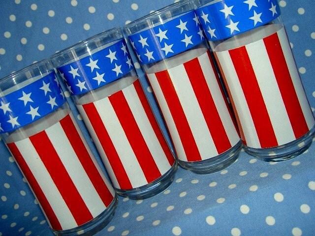 Patriotic Iced Tea Glasses
