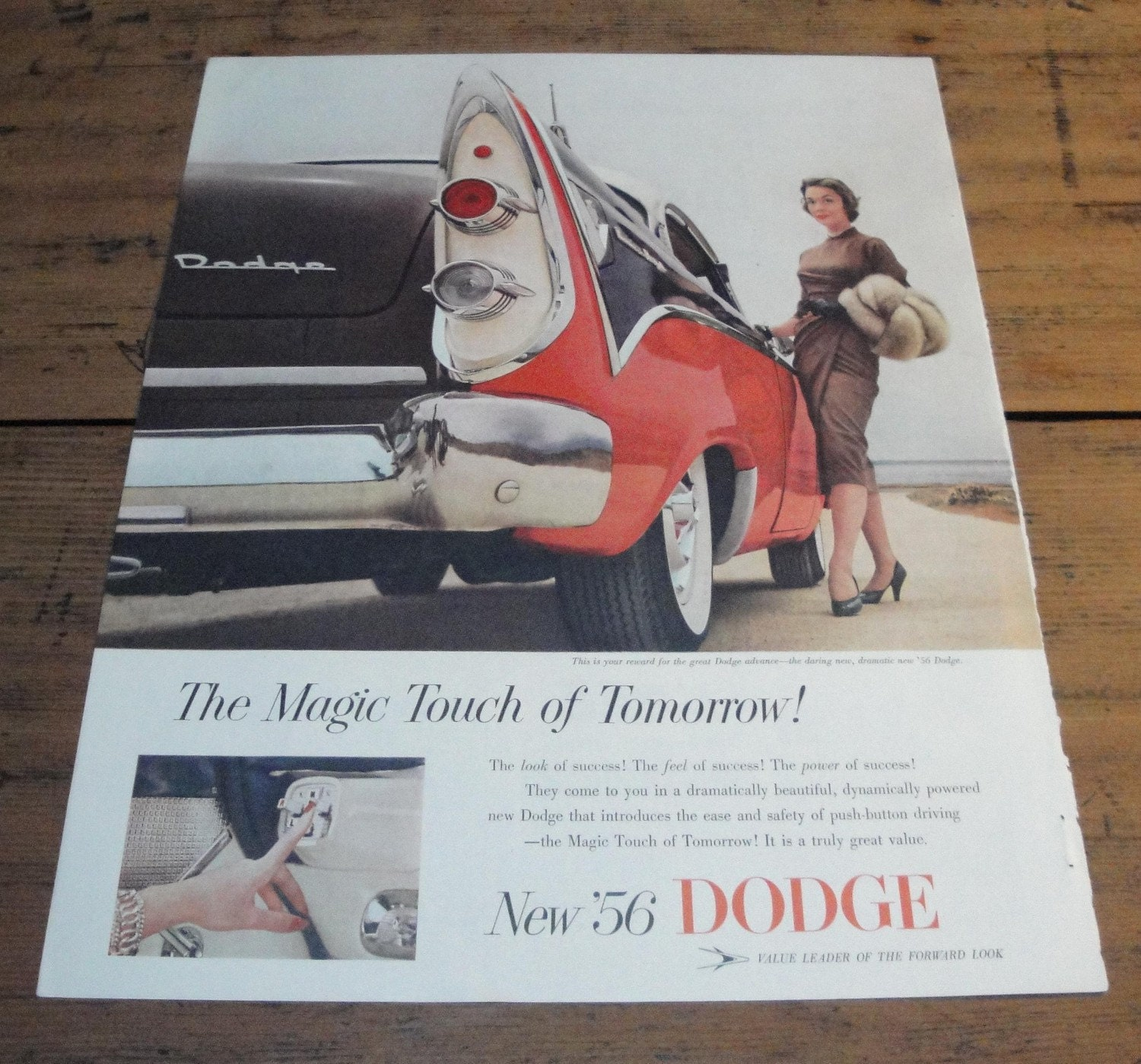 1956 DODGE ADVERTISING PAGE,