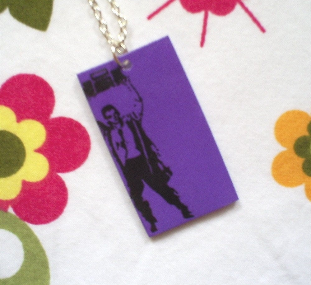 Say Anything John Cusack Necklace - Purple