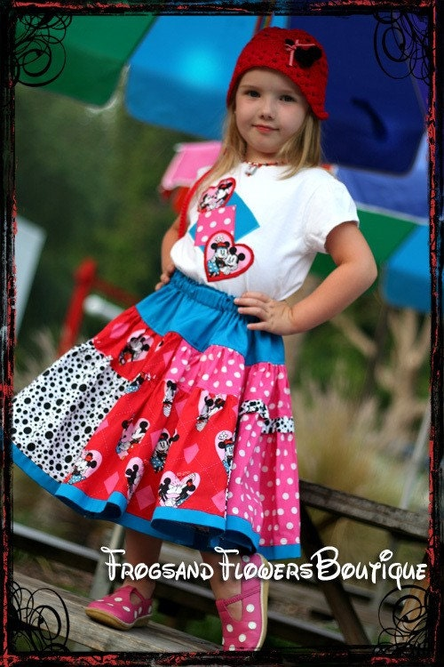 Mouse Vacation MEGA Twirl set - WiNKeLF :  girls clothing handmade boutique handcrafted