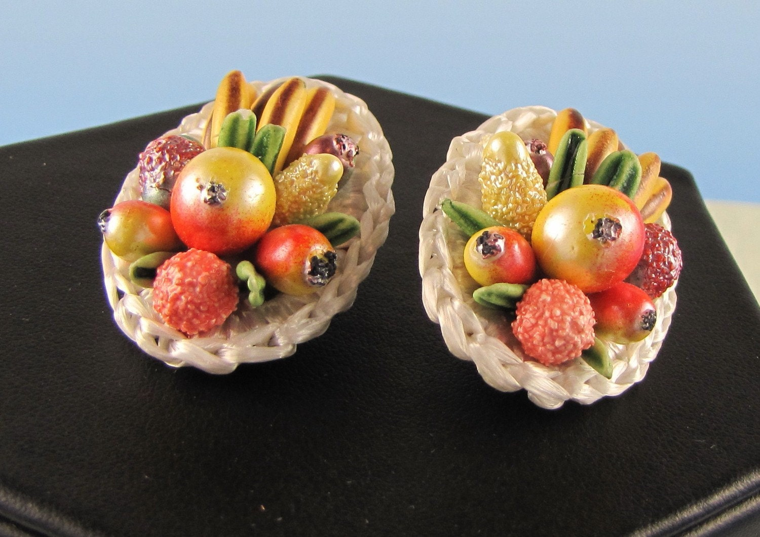 Fruit Salad Vintage Earrings
