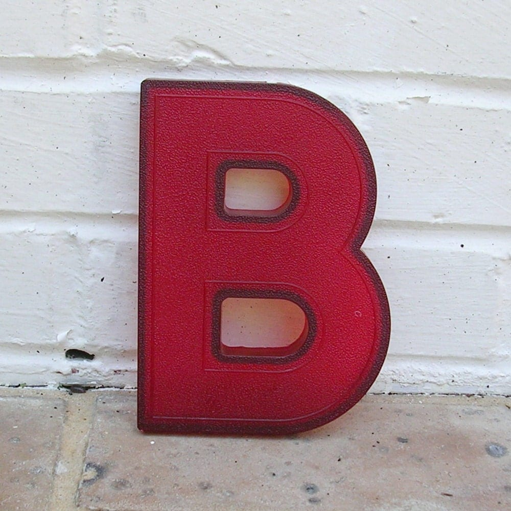 Vintage letter b vintage marquee letter b hard red by for B marquee letter