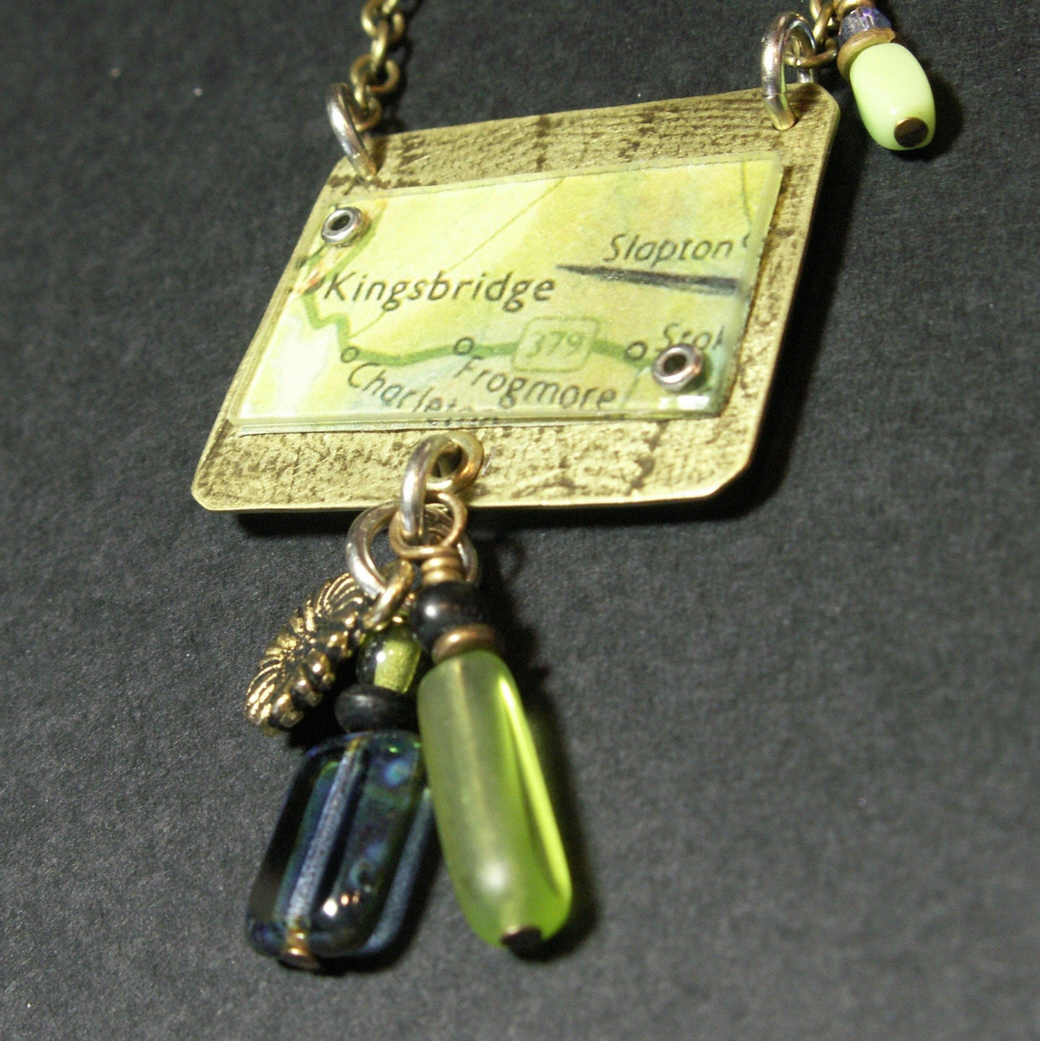brass mixed media necklace jewelry kingsbridge