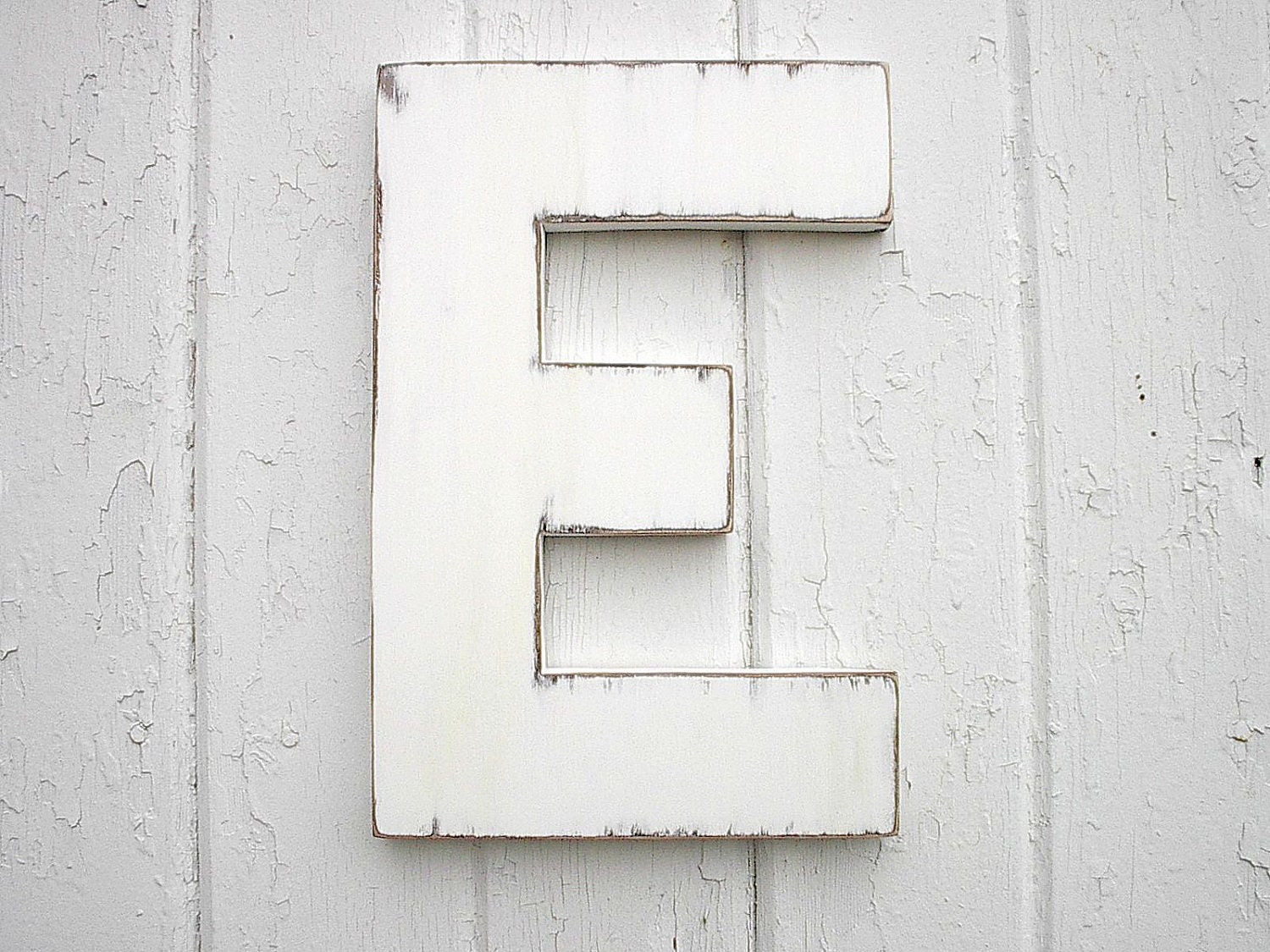 Distressed Wooden Letter Sign Shabby chic Letter by LettersofWood