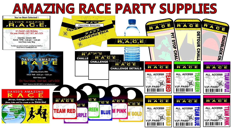 Amazing Race Invitations Burthday  Party Invitations Ideas