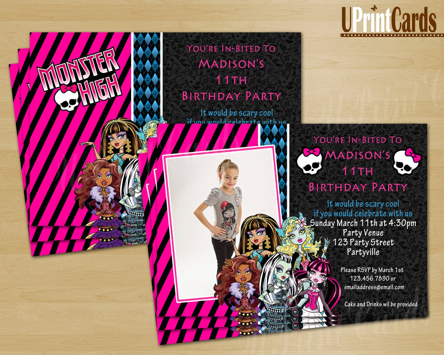 Monster High Printable Cards – Free Monster High Party Invitations
