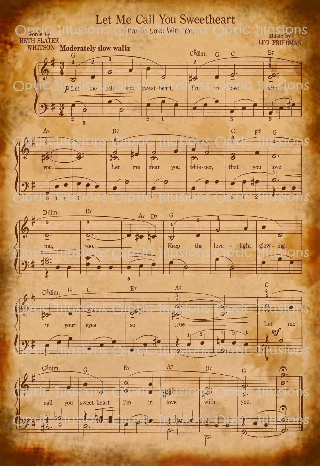 Special -- Vintage Music Sheets - Set of 2 - Digital Collage Sheet