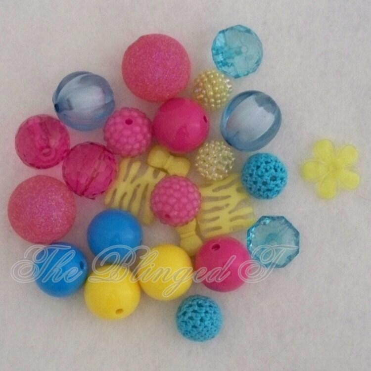 items similar to chunky gumball bead necklace diy kit set