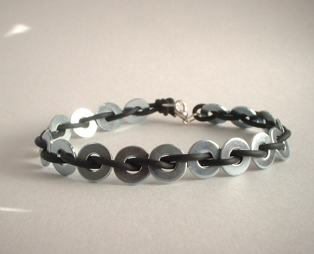 UNISEX BLACK and SILVER Bracelet