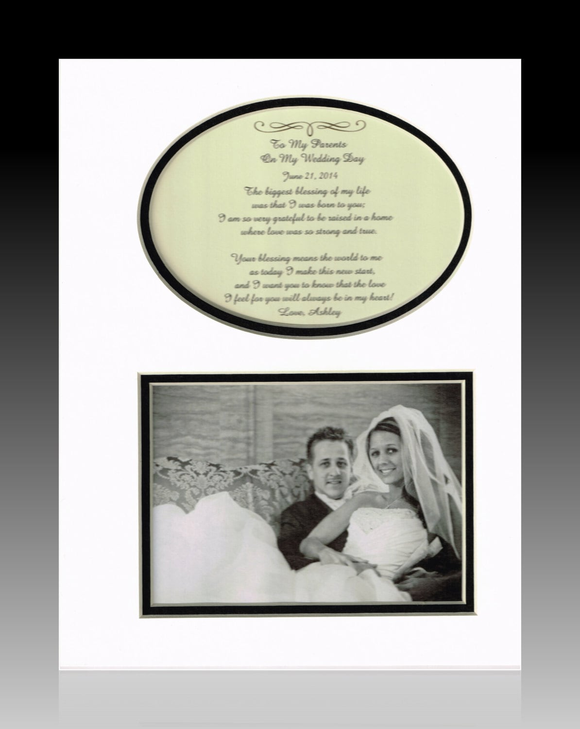Wedding Day Gift For Parents : Wedding Gift for Parents Bride Groom Mother Father Personalized ...