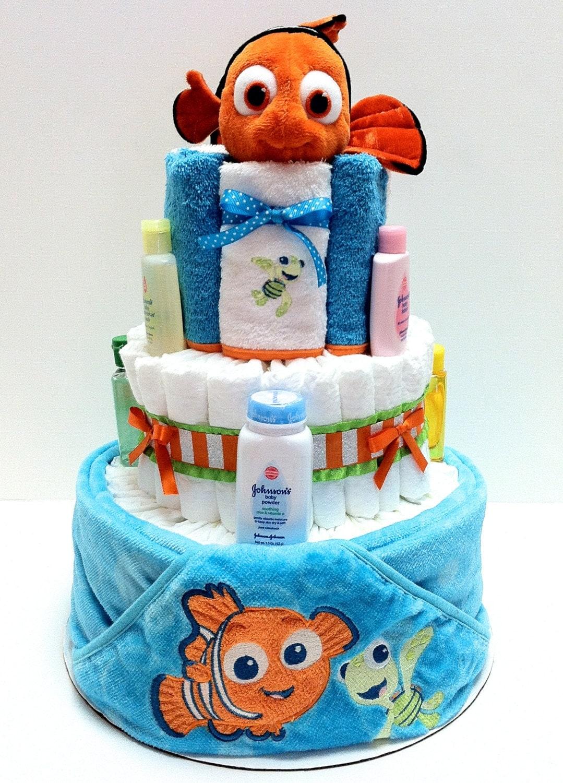 finding nemo diaper cake by babycakesbyellie on etsy