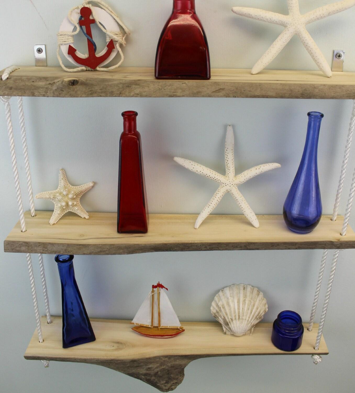 Driftwood hanging wall shelf driftwood shelves by for Driftwood wall shelves