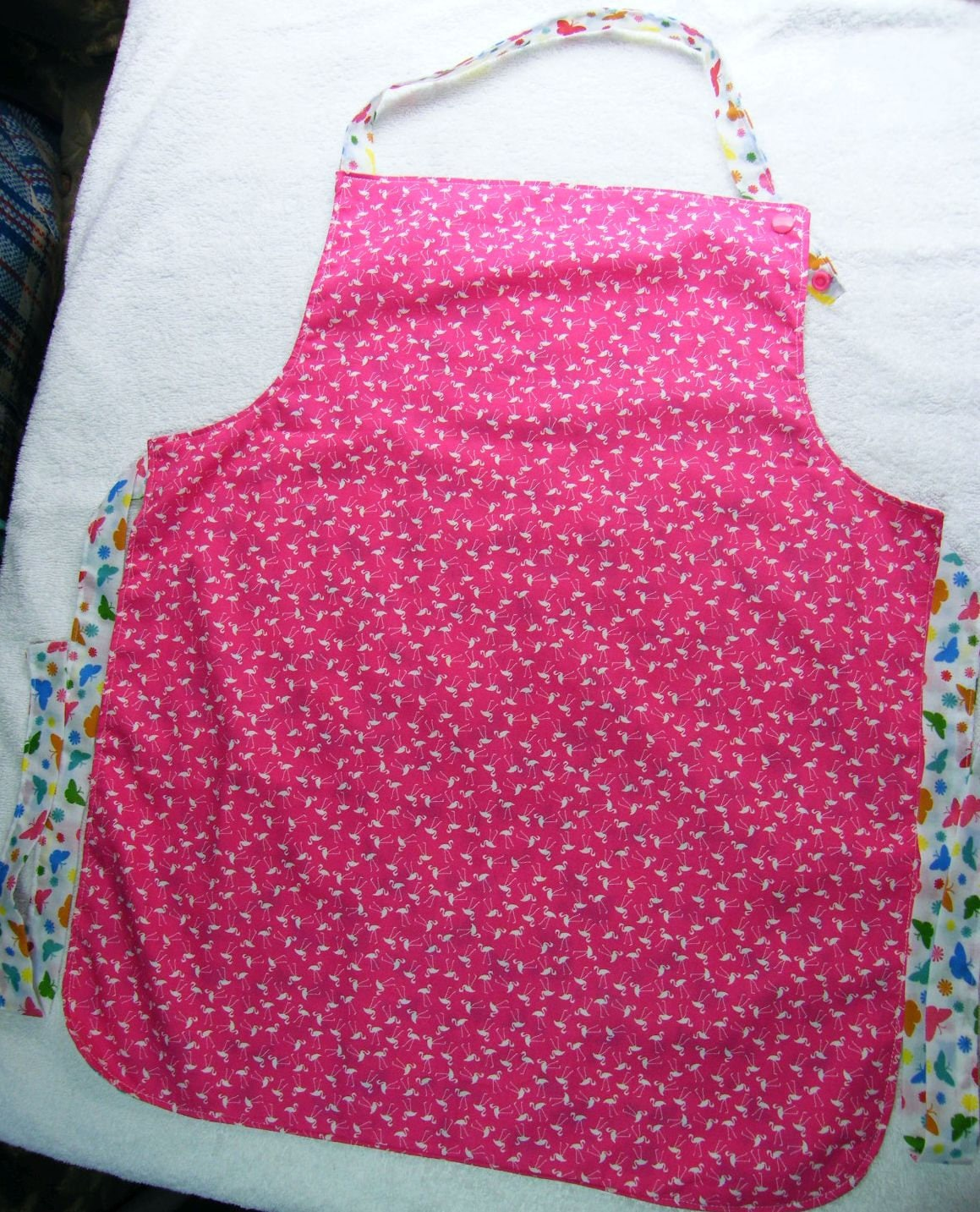 Girls Reversible Apron Age 7  10 years Baking or Cooking Apron Gardening Apron Craft Apron Fully Reversible Adjustable Apron.