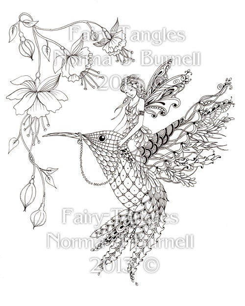 magical fairies coloring pages - photo#33