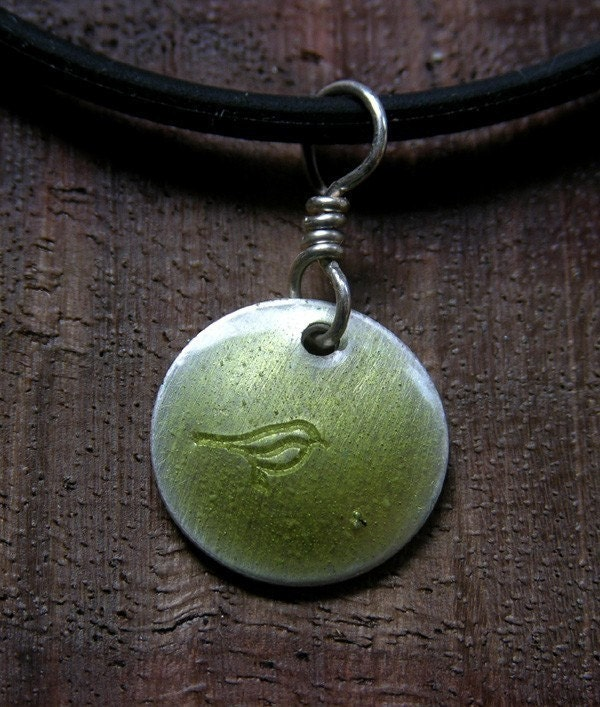 Tweet...The Jewels...Olive...Fine Silver Necklace