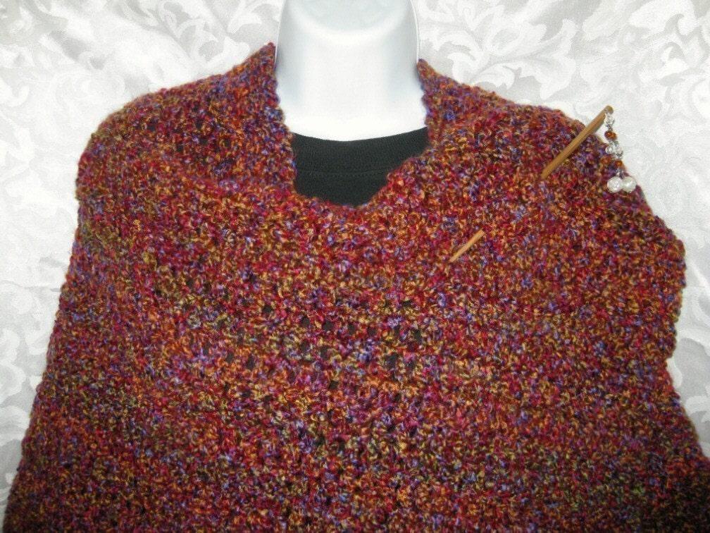 Knit Ruana Pattern Free : Easy Ruana Crochet Pattern Your Hook Your Yarn by crochetgal