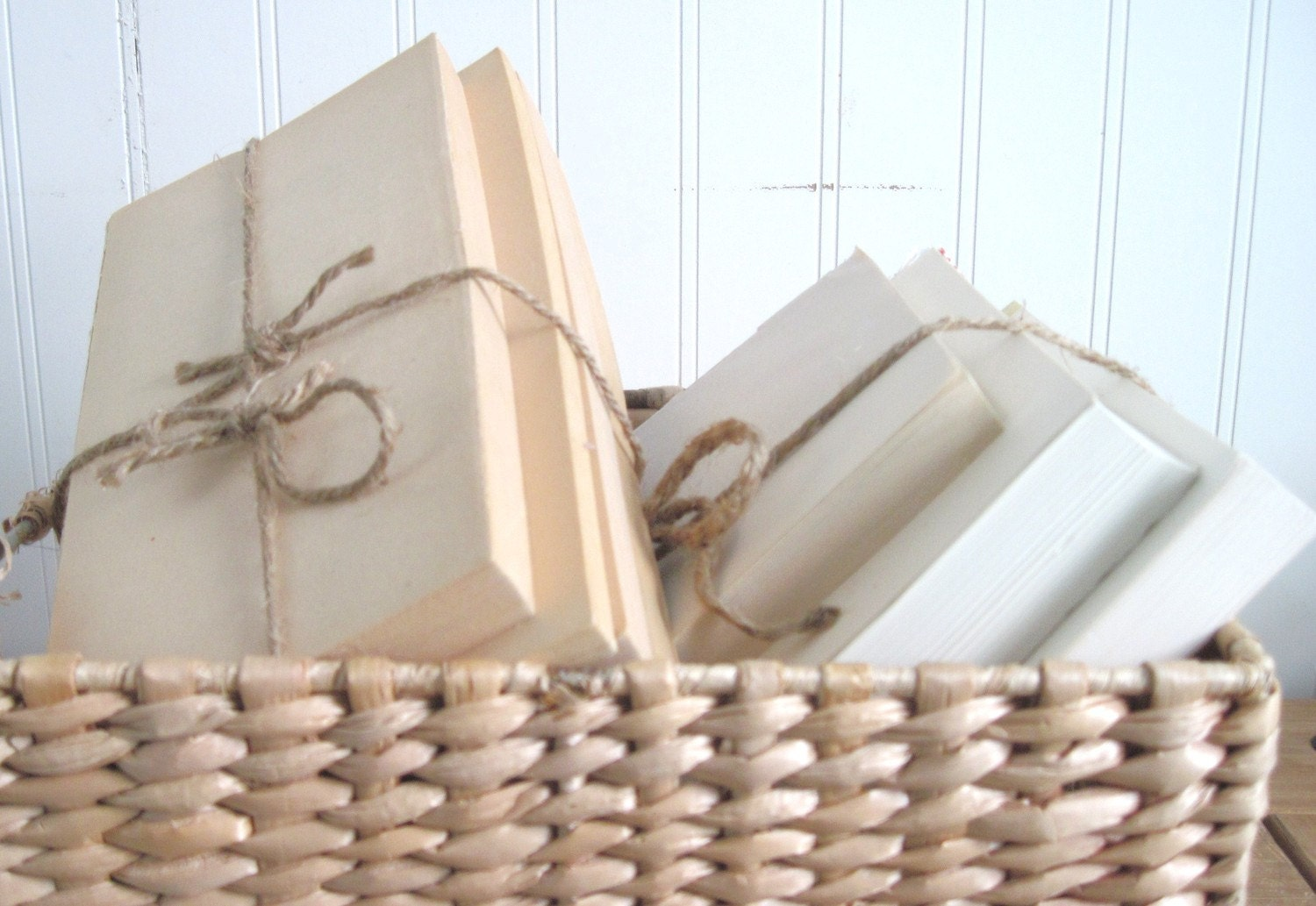 Shabby Rustic Book Bundles Bound with Jute, Trendy AND Thrifty -  Bulk Custom Orders Save
