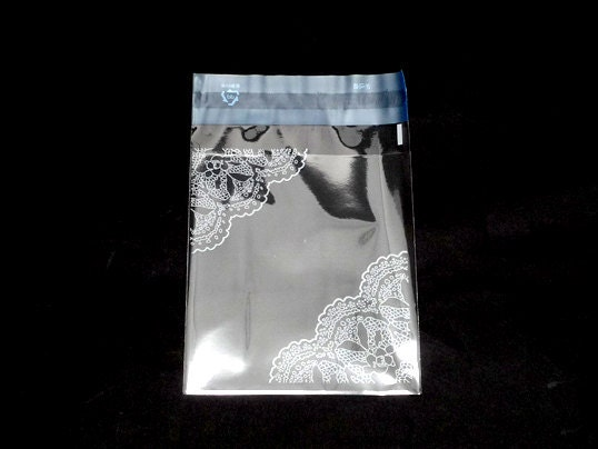 White Doily Printing Opp Self Sealing Bags