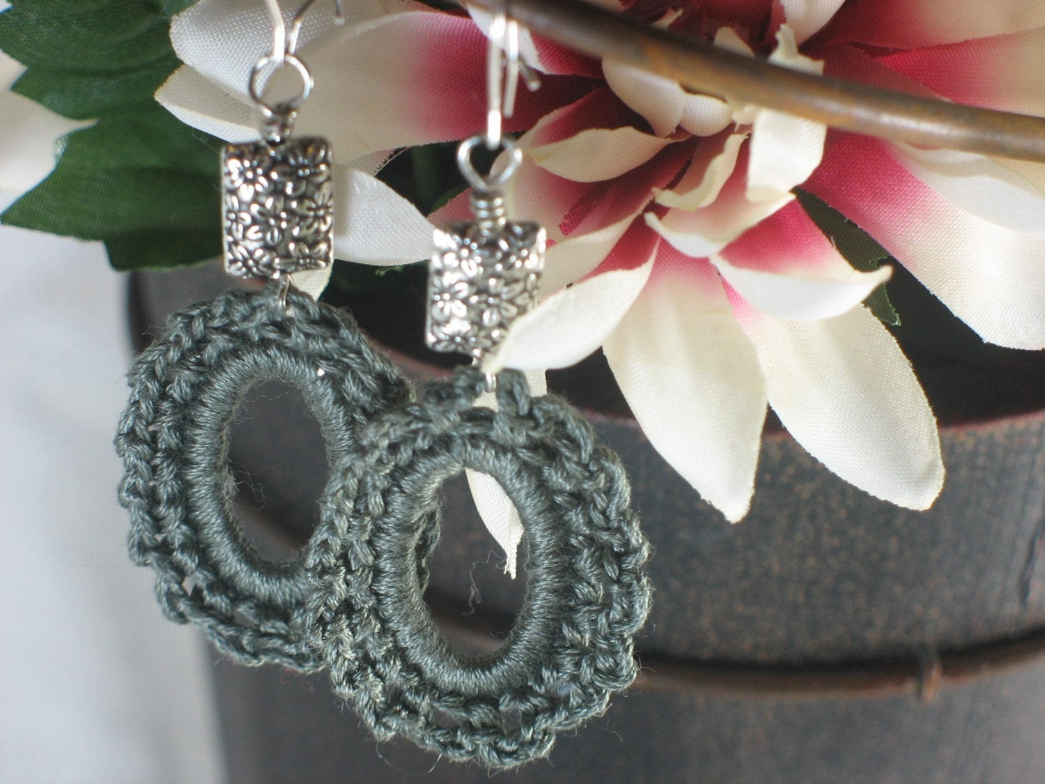 Greycious crochet earrings