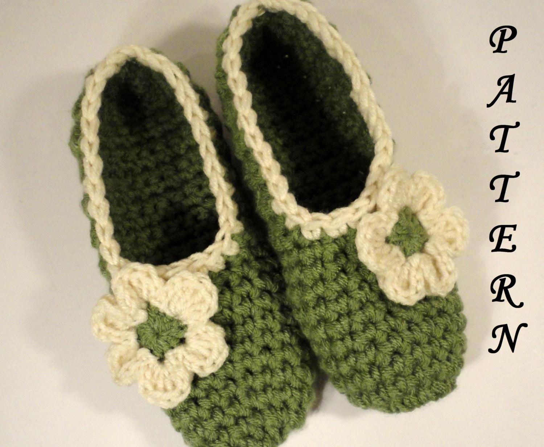 Crochet Slippers Pattern Spa Slippers Womens by ...