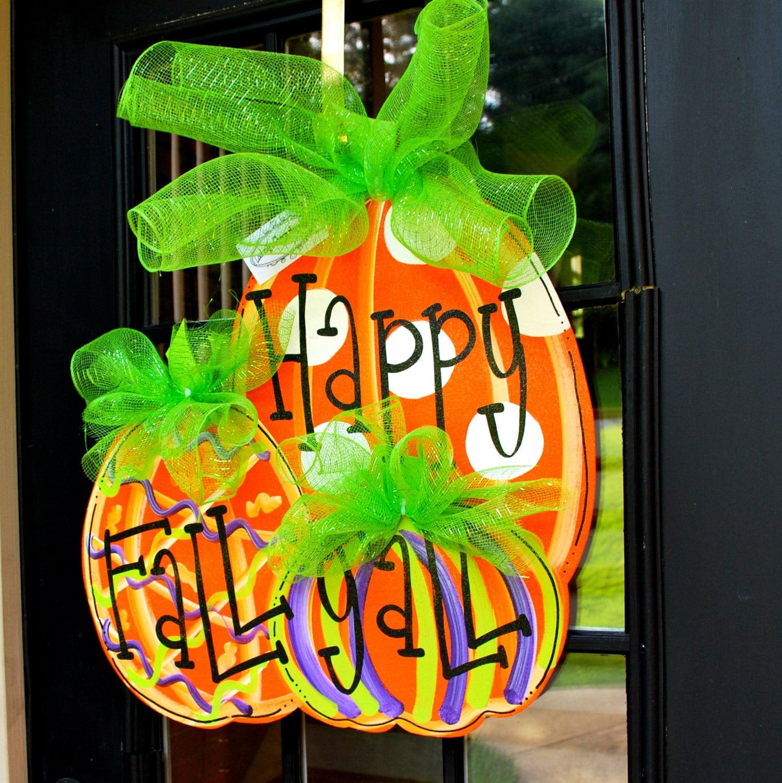 Decorating Ideas > Fall Door Hanger Pumpkin Door Decoration Fall By  ~ 141416_Halloween Door Hanging Decorations