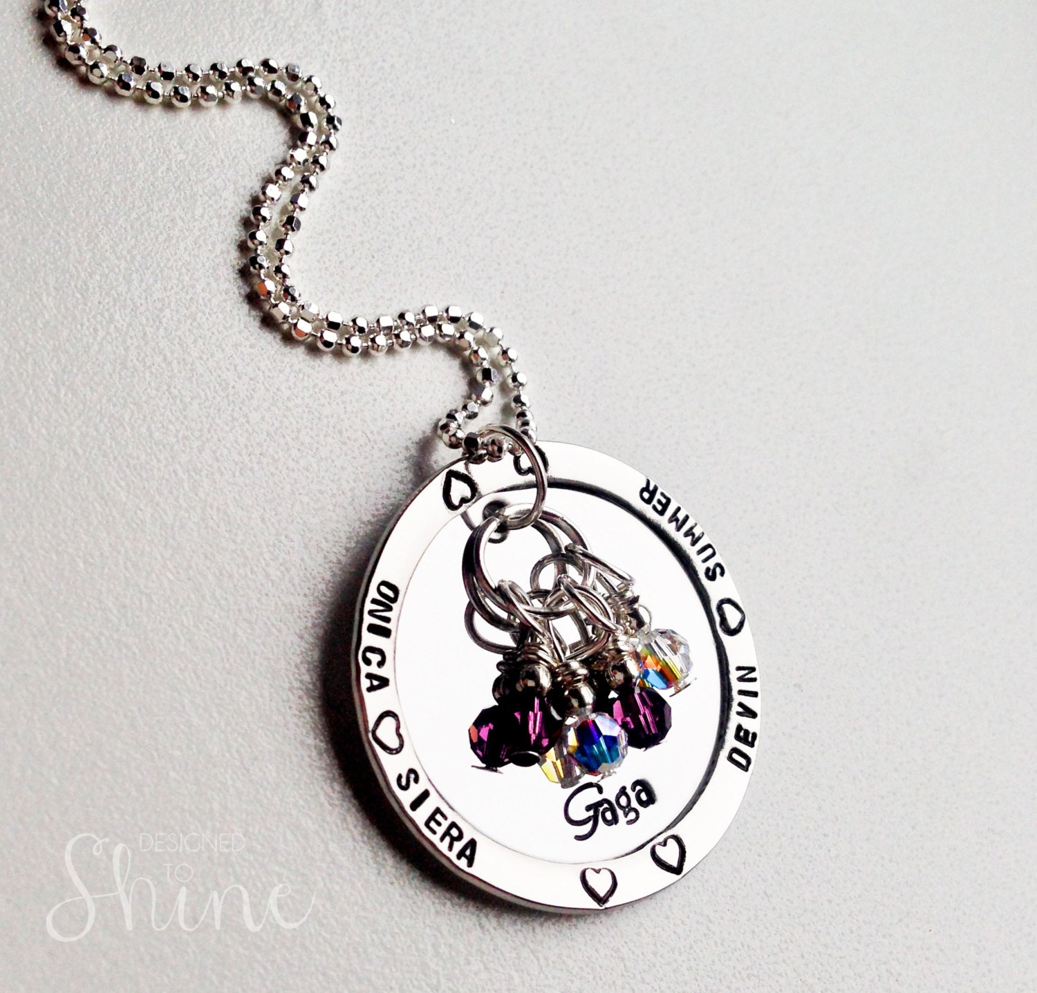 Custom Grandmother Necklace - Grandmother Gift - Mommy Jewelry