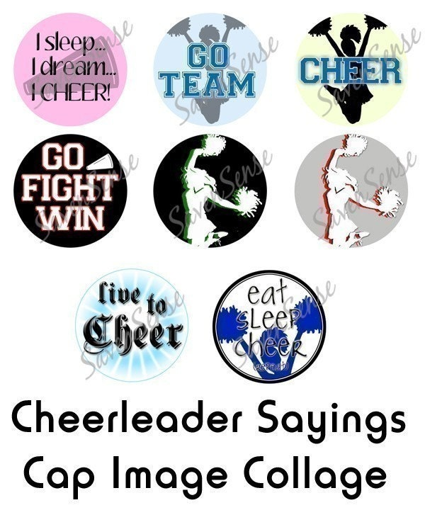 Cheer Cheerleading Sayings 1 inch Bottle Cap Disc-Its Boutique Digital
