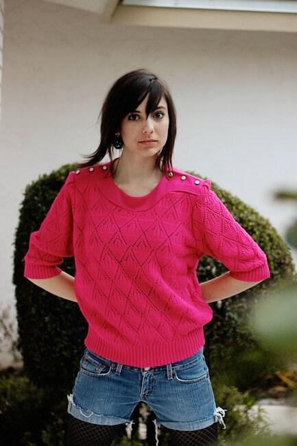 HAITI - Michael Jackson (part II) Thriller-like 80s Hot Pink Sweater