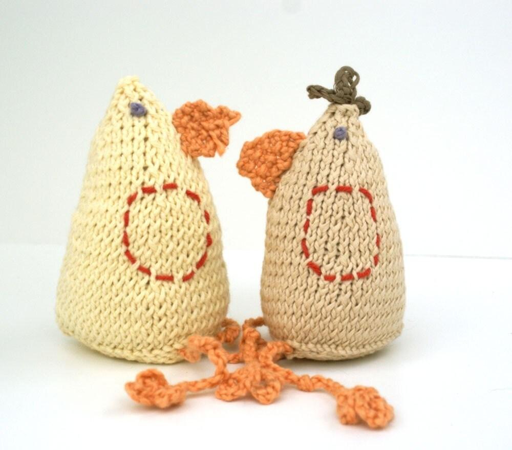 Handmade Knit Toy Chicken