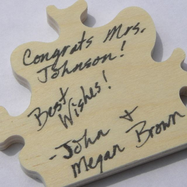 Wedding Guest Book wooden jigsaw puzzle 12 x 24