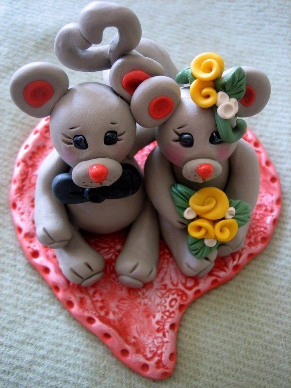 Mouse Wedding Cake Topper