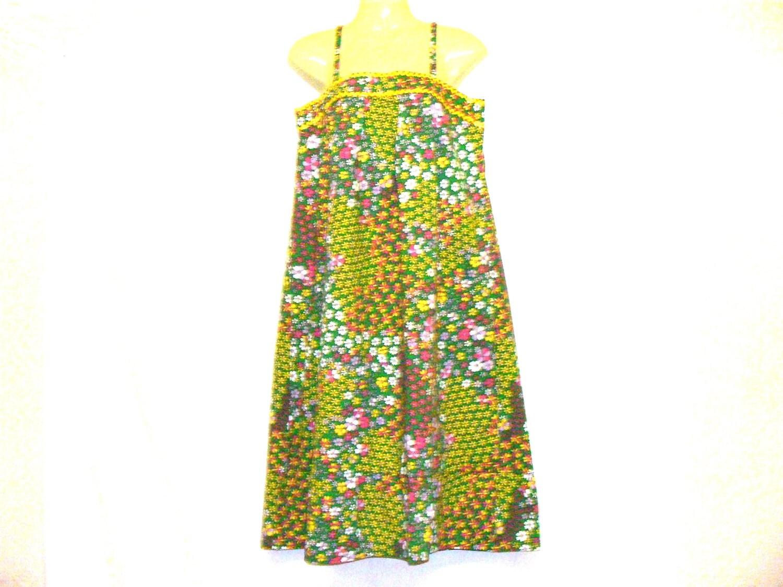 Floral Dress Summer Dress 1970s Dress Womens Dress Slip Dress By Rebeccas Clothes