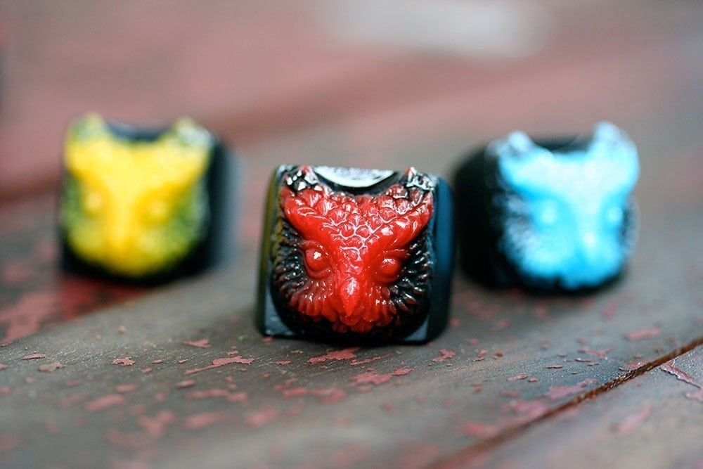 Whoo owl ring cherry red and nocturnal black