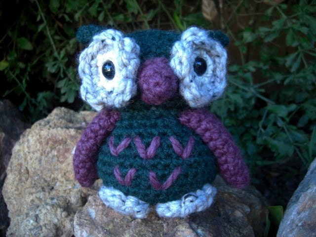 Pine and Violet Owl