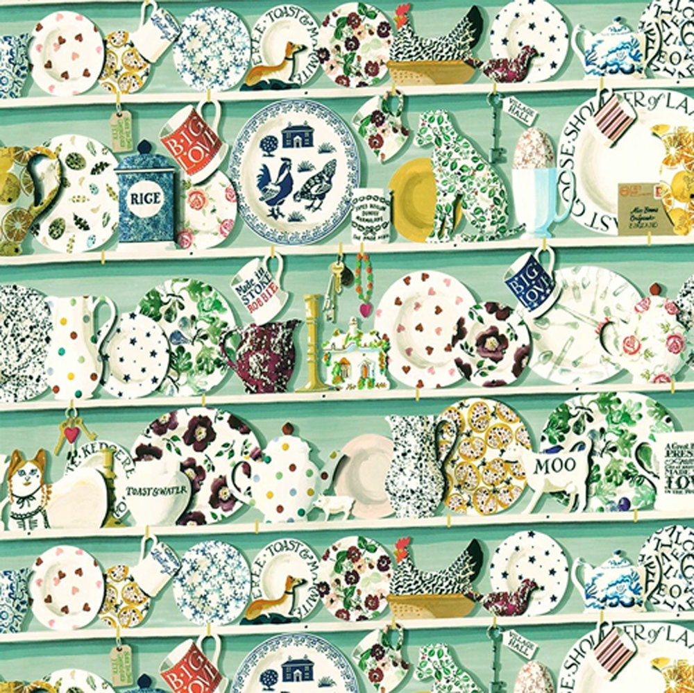 Dolls House  Wallpaper 112th or 124th scale Quality Paper Kitchen  Green Miniature 332
