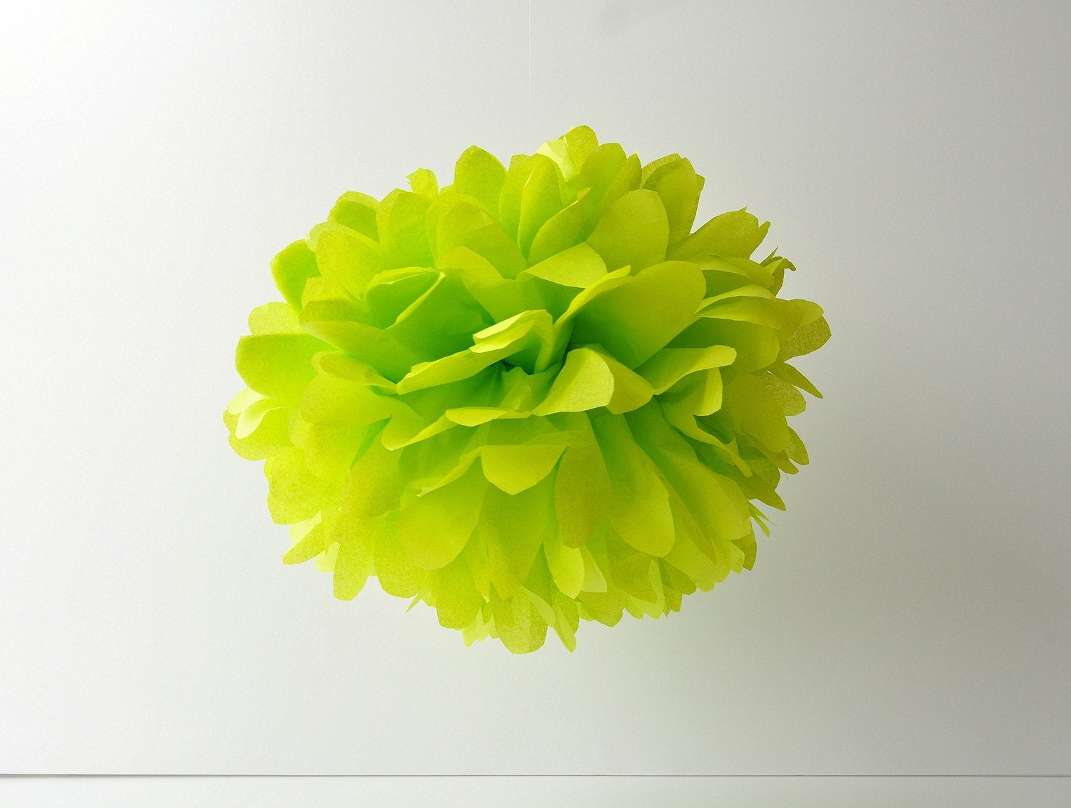 Citrus Green - 1 Large Tissue Paper Pom